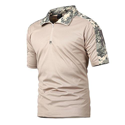 Camisa de Combate para Hombres Caza táctica Militar Polo de