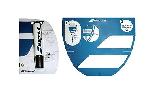 Babolat Plantilla para raqueta de tenis y marcador de tinta (tinta negra)