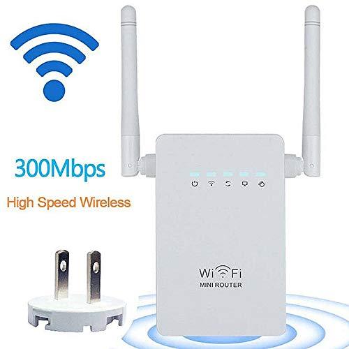 BYECHOW 300Mbps WiFi Repeater WiFi Range Extender, Amplificador de señal Wi-Fi Punto de Acceso inalámbrico Punto de Acceso Ap Repetidor con 802.11n / g/b con función WPS