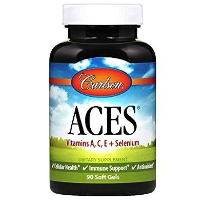 Carlson - ACES, Vitamins A, C, E + Selenium, Cellular Health & Immune Support, Antioxidant, 90 Softgels