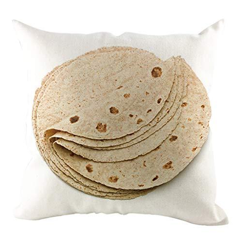 Sameno - Funda de cojín de felpa corta con estampado de burrito mexicano de 45,72 x 45,72 cm, para hombre y mujer, decoración del hogar, sofá, dormitorio, sala de estar (G)