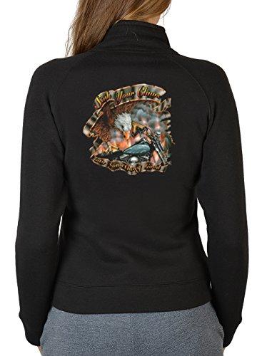 Tini - Shirts Biker Legende Harley Motiv Zip Sweater Damen : Sink Your Claws into Something Good - Motiv Zip Sweatshirt Motorradfahrer/Motorrad Sweatjacke Frau Gr: M