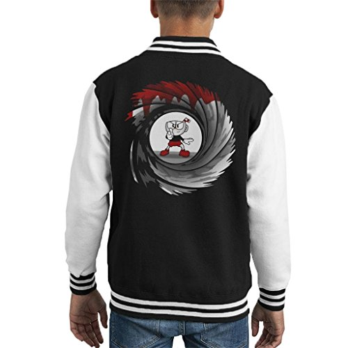 Cloud City 7 Cuphead Double 0 Cup Kid's Varsity Jacket