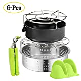 Pressure Cooker Accessories Set, Compatible with Instant Pot 6,8 QT or Other Electric Pressure Cookers, 6Pcs Steamer Basket Sets