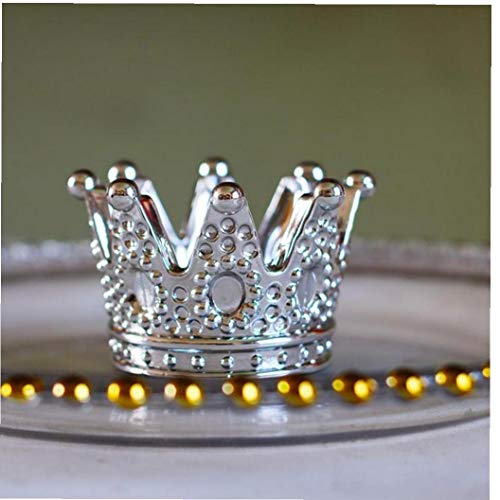 lulongyansf Silber Creative Glass Crown Aschenbecher Netter Verfassungs-Puff Cigarette Kerzenhalter für Start Auto Frau für HauptGardening