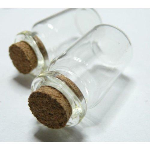 6 pieces flacon fiole en verre 22 par 40 mm GM