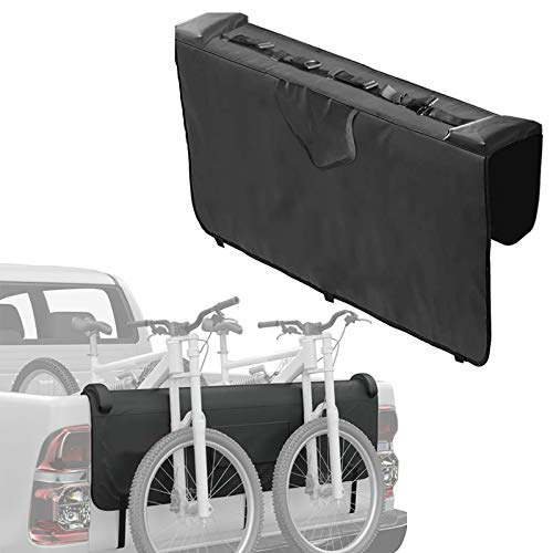 YAMEIJIA Almohadilla de protección de Tailgate para camión con 5 Correas de Marco de Bicicleta seguras para Bicicletas de montaña de Tronco para la Caja de surfculta de Bicicleta