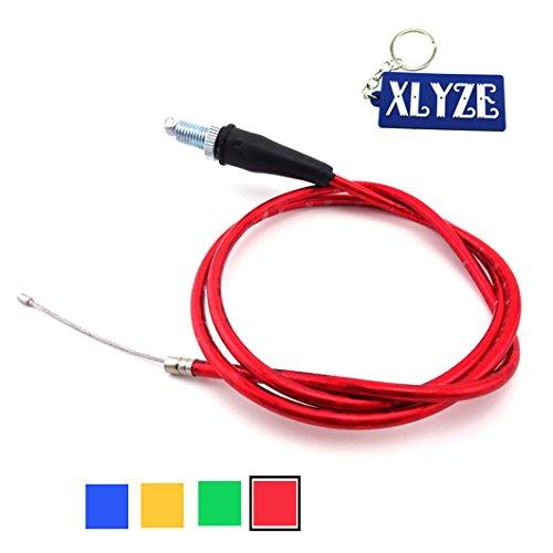 XLYZE Twist Gas Cable del acelerador Rojo para 50cc 70cc 90cc 110cc 125cc 140cc 150cc 155cc 160cc Chino CRF50 KLX Pit Dirt Bikes Lifan YX