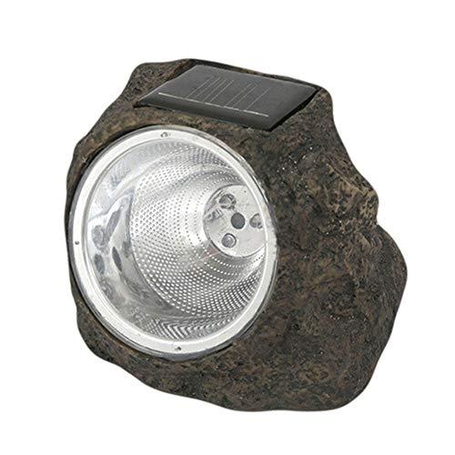 Lampada a energia solare a forma di roccia, luce decorativa a forma di roccia con 3 LED a energia solare, impermeabile, per esterni, giardino, patio, cortile, vialetti