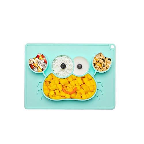 Woo Well silikon baby tischset/kleinkind tischset,Geeignet für Mikrowellen und Geschirrspüler,Nette Krabbenform Lassen Sie Kinder gerne essen