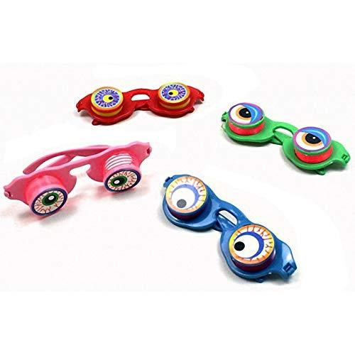 HM-Trends 4X Kinder Brille mit Wackelaugen Mitgebsel Tombola Party Scherzbrille