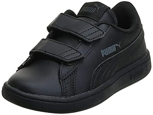PUMA Unisex Kinder Puma Smash V2 L V Ps Sneaker, Schwarz Puma Black Puma Black, 33 EU