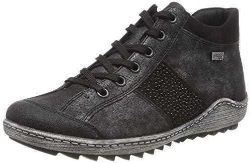 Remonte Damen R1468 Hohe Sneaker, Grau (Schwarz/Graphit/Schwarz 45), 36 EU