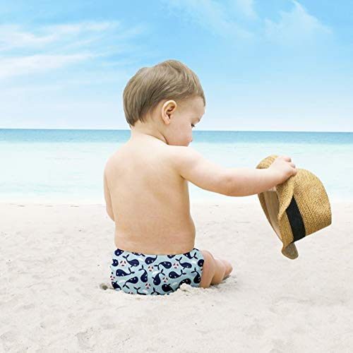 Bambino Mio, pañal bañador, oleaje de ballenas, extra grande (2+ años)