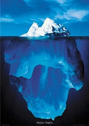 ERZAN大人の子供のおもちゃ水中の隠された深さの氷山創造的なギフト1000ピース ジグソーパズル