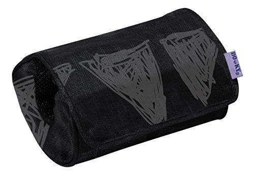Original Dooky Arm Cushion Black Tribal Polsterkissen Armschoner mit Klettverschluss für Babyschale universale Passform, grau