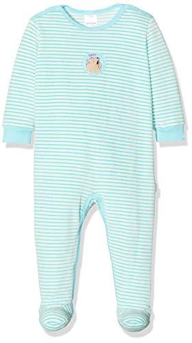 Schiesser Baby-Mädchen Ponyhof Anzug mit Fuß Zweiteiliger Schlafanzug, Blau (Türkis 807), 86 (Herstellergröße: 086)