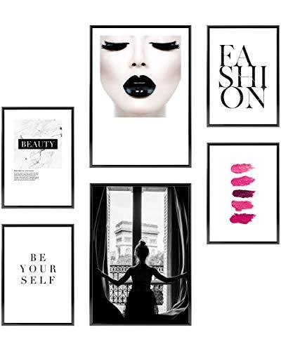 Heimlich Zestaw Plakatów - NieoprawioneWydruki Premium2 x A3 & 4 x A4-30x42 & 21x30 | » Paris Fashion «