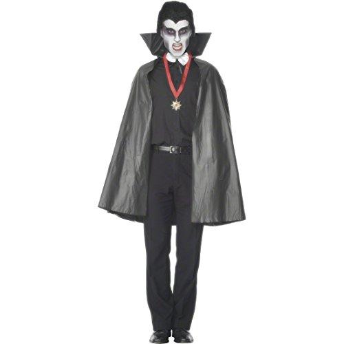 NET TOYS Cape Vampire Noire 114 cm Cape de Vampire Manteau de Vampire Cape Manteau déguisement Dracula