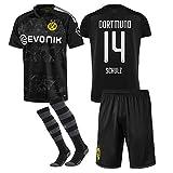 VV-RT STAR 19/20 Saison (Heim - Auswärts) Borussia Dortmund Fussball Trikot & Shorts & Socken #14 Nico Schulz Fußball Trikot für Kinder Herren Erwachsen