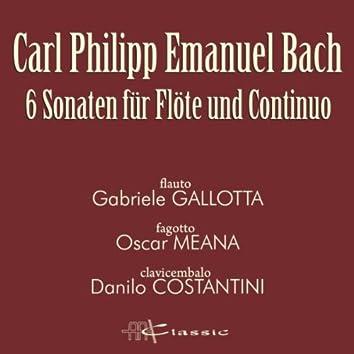 Carl Philipp Emanuel Bach: 6 Sonaten für Flöte und Continuo