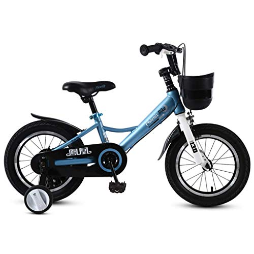 seveni Kids' Bikes, Children's Bicycle 3-12 Year Old Child Bicycle /4/16/18 Inch Boy Girl Baby Carriage Child Folding Bicycle (Color : Blue, Size : 18in)
