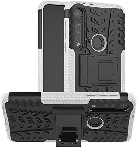 Lapinette Funda Compatible con Motorola Moto G8 Plus Antigolpes - Carcasa Moto G8 Plus Protección Antigolpes - Funda Motorola Moto G8 Plus Antigolpes Rígida Modelo Spider Blanco