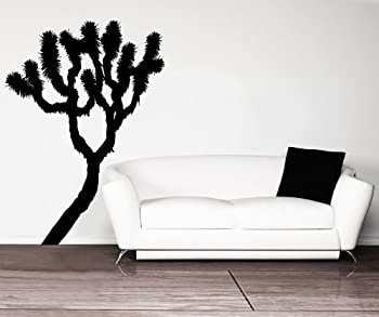 Joshua Tree Vinyl Wall Decal Sticker  Black Color  65in Tall X 47in Wide #AC210m