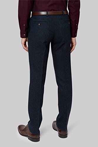 Moss London Men's Blue Dongeal Suit Pants 38R Blue