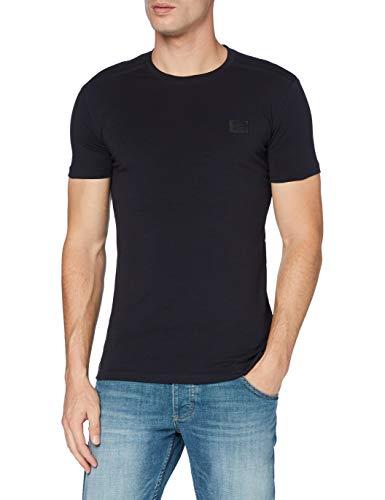 Antony Morato Herren T Shirt Sport Slim Girocollo Con Placchetta Pullunder, Blau (BLU Notte 7066), X-Large