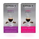 Daniel's Blend Cápsulas de café compatibles con máquinas Nespresso Intenso / Lungo (200 Cápsulas)