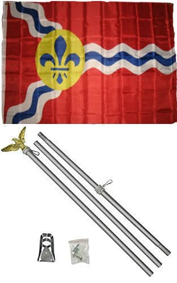 New They can be used indoors or outdoors.3x5 City of St. Louis Missouri Flag Aluminum Pole Kit Set 3'x5'.The authentic design is based on information from official sources