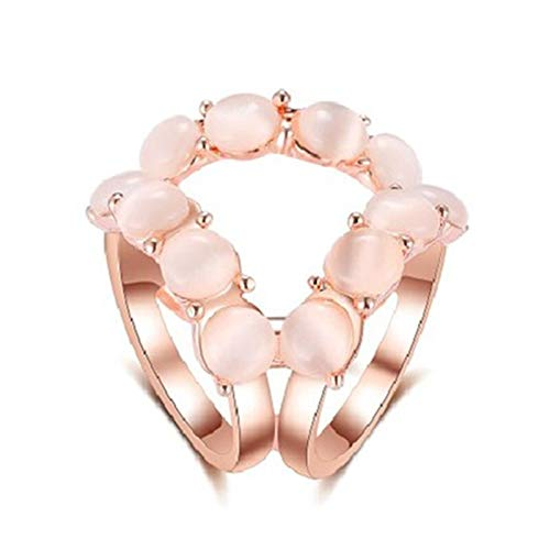 ZLSP Tricyclic Flower Crystal Sciarf Sciarpa Supporto Spilla di Seta Clips Clip Retro Gatto Eye Stone Stone Blooches Pin (Color : Pink)