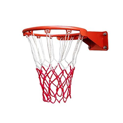 WYHM Durable Anillo de Arco de Baloncesto 18 '' 45cm Ronda de Baloncesto Montada en la Pared con Red y Fijaciones para Niños al Aire Libre en Interiores Completo Accesorios (tamaño : 45cm)