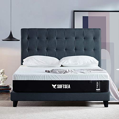 SOFTSEA 12 Inch Memory Foam Mattress in a Box, Plush...