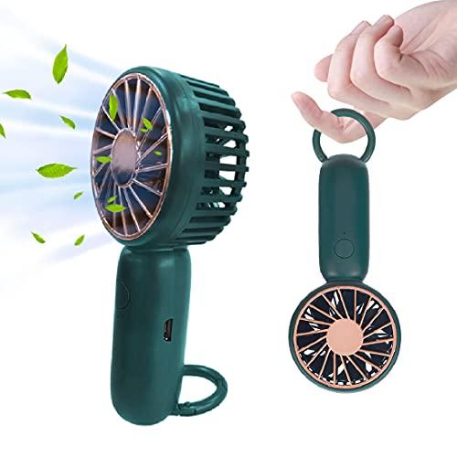 Aybe Mini Ventilatore Portatile, Ventilatore USB, Ventilatore Ricaricabile, Portatile Ventilatore Tascabile, 3 Velocità, Ricaricabile, Ultra Silenziosa, Ideale per Casa e Ufficio, Esterno o Viaggi