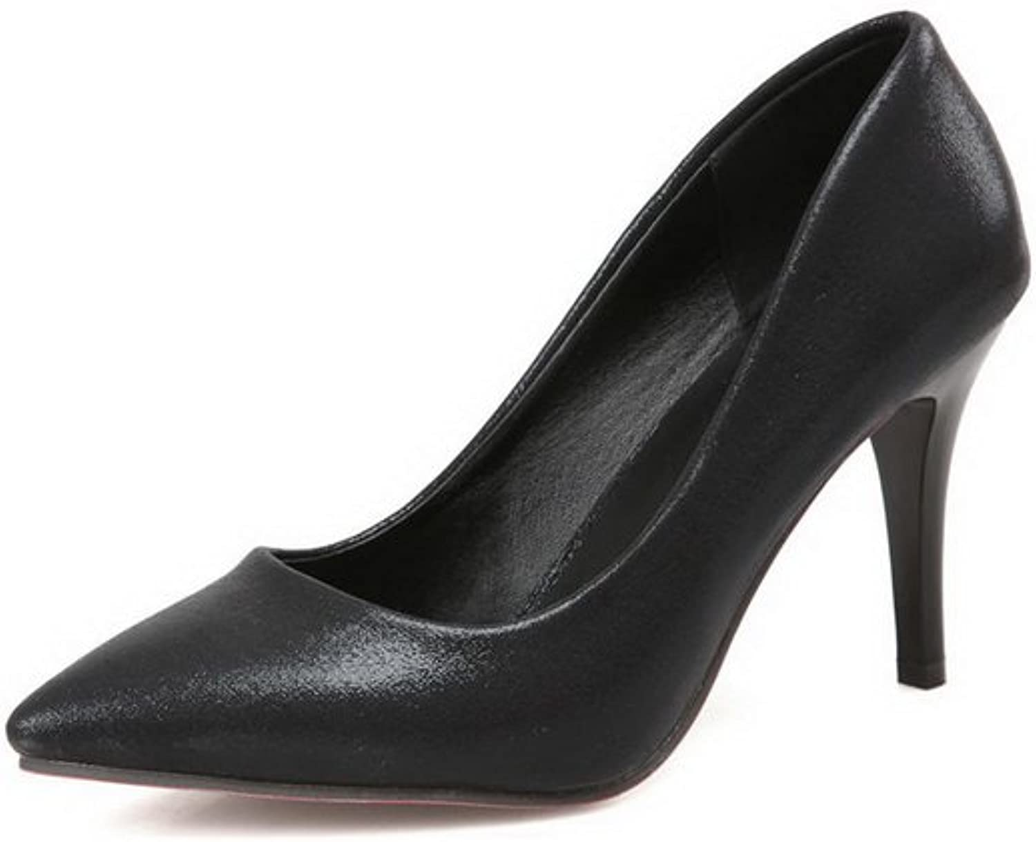 A&N Womens Spikes Stilettos Low-Cut Uppers Pointed-Toe Sequin Pumps-shoes