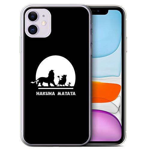 Hülle Für Apple iPhone 11 Karikatur Afrikanische Tiere Hakuna Matata Design Transparent Dünn Flexibel Silikon Gel/TPU Schutz Handyhülle Case