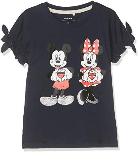 NAME IT Baby-Mädchen NMFMINNIE Dory SS TOP Box WDI T-Shirt, Blau (Dark Sapphire Dark Sapphire), (Herstellergröße: 86)