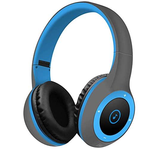 LVF Auriculares Bluetooth, Auriculares estéreo inalámbricos Ligeros y de Alta fidelidad de Alta fidelidad, Auriculares de Bajos Profundos con micrófono(Rosegold)