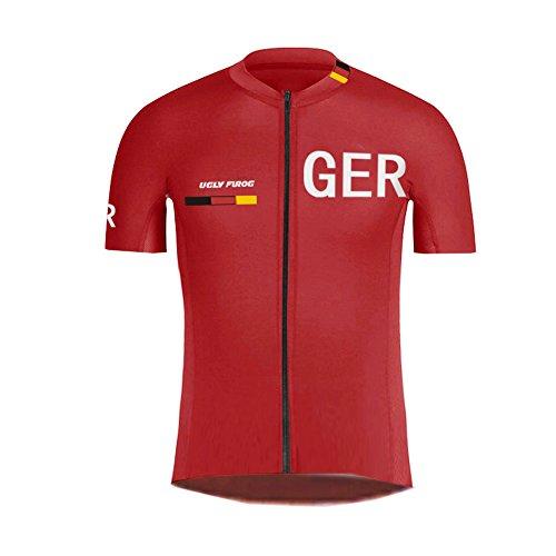 Uglyfrog -Landesvorwahl Sport Radsport Trikots & Shirts Kurzarm Herren Sommer Stil Bekleidung Atmungsaktiv Top