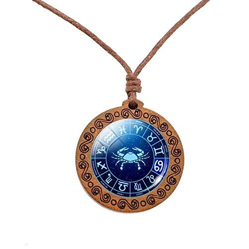 Sternzeichen Halskette Krebs, Amulett-Anhänger