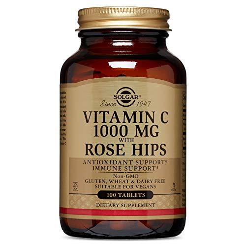 Solgar Vitamina C con rosa canina, 1000 mg, 100 Tavolette