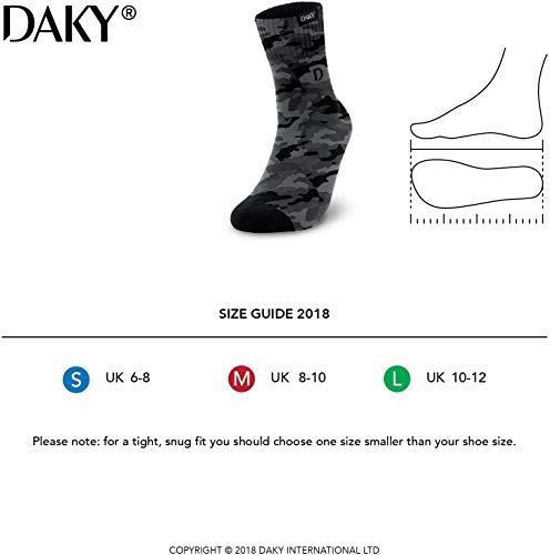 DAKY Waterproof Socks - Ultimo - Unisex fit - for Outdoor/Indoor Activities cycling, golf, hiking, gardening, kayaking, sailing and all outdoor pursuits (Medium)