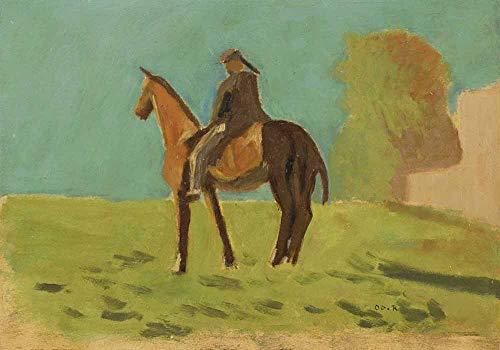 FAN C. Odilon Redon - Apache (Mann Zu Pferd). C. 1875 Leinwandbilder Reproduktionen Gerollte 120X80 cm - Landschaft Gemälde Gedruckt Wandkunst