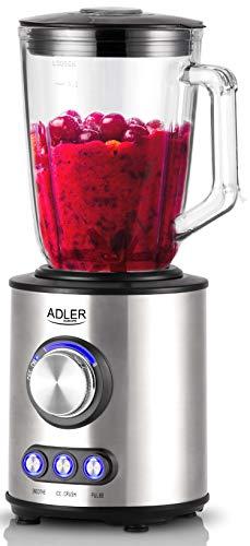 Standmixer 1.700 Watt | Glas Edelstahl | Smoothie Maker | Mixer | Universal Power Mixer | 4-Fach Edelstahlmesser | Zerkleinerer | Eiweiß Shaker | Ice Crusher | Eis Crusher