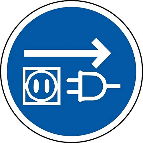 BCTS Señal de advertencia de metal para desconexión de electricidad de la...