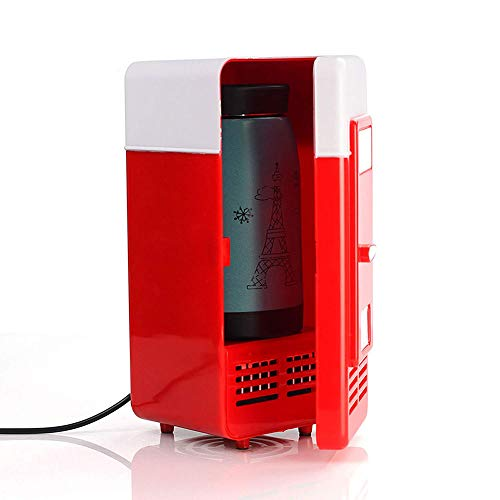 Lychee Mini Nevera Electrica USB Refrigerador Silenciosa Portátil con Refrigeración y Función del Calentamiento para Coche/PC/Escritorio/Oficina