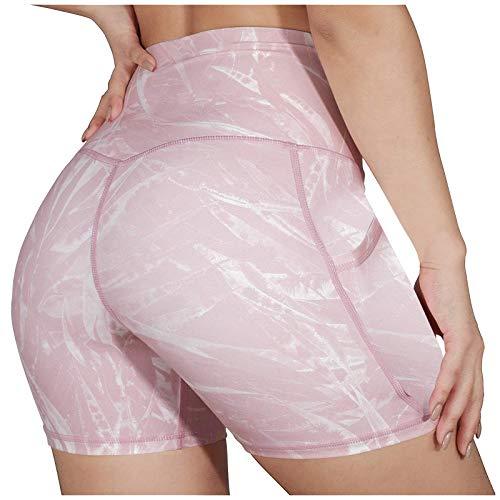 Pantaloni da Yoga, Stampa di Moda da Donna Yoga Sport Fitness Pantaloni da Bodybuilding Pantaloncini Aderenti, Abbigliamento da Donna (M Rosa)