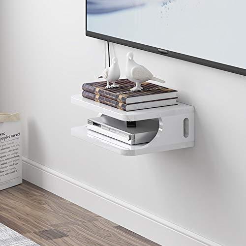 Instelbare set-top box rek TV wandkast woonkamer rekken wandrekken slaapkamer partitie router opslagdoos 30 * 10 cm gedraaid worden (kleur: B) B